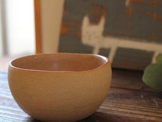 育てるウツワ 揺ら ボウル(地器chiki)茶 陶土の画像
