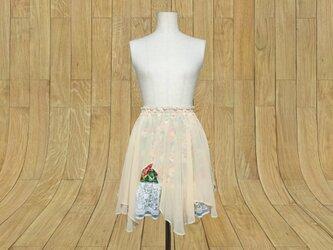 ギャザーフレアスカートの画像