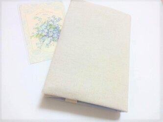 単行本用(内側布・空の色)キャンバス生地 ブックカバー の画像