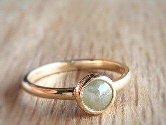ナチュラルダイヤモンドリング(イエローグリーン) /k10の画像