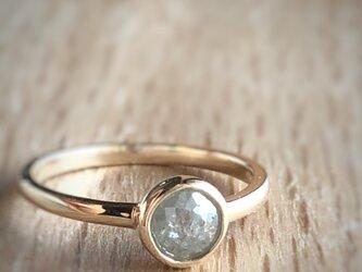 ナチュラルダイヤモンドリング(シルバーグレー)/k10の画像
