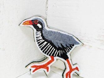 ヤンバルクイナちゃん*刺繍ブローチの画像