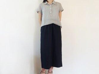 リネン/コットンロングゆるタイトスカートの画像