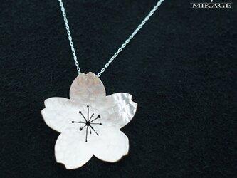 Simply Sakura Pendant (L):銀925桜ペンダントトップ (御影宝飾工房)の画像
