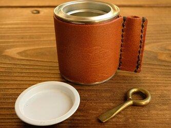 レザーカバー付き 1/5L 塗料缶 *カンオープナー付の画像
