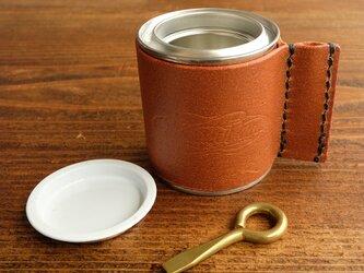 レザーカバー付き 1/12L 塗料缶 *カンオープナー付の画像