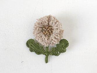 flower brooch B - ライトベージュの画像