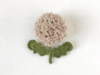 flower brooch A - ライトベージュの画像