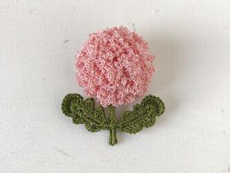 flower brooch A - ピンクの画像