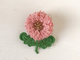 flower brooch B - ピンクの画像