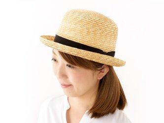 Carla カーラ 麦わら ボーラーハット 麦わら帽子 ストローハット 57.5cm [UK-H065-NA]の画像