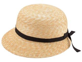Petit プティ つば短女優帽 子供用 54cm [UK-H010-PEBK54]の画像
