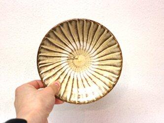 小鹿田焼(坂本拓磨) 5寸皿(刷毛目・白)の画像