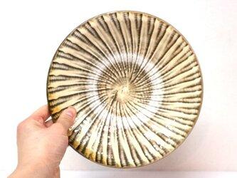 小鹿田焼(坂本拓磨) 7寸皿(刷毛目・白)の画像