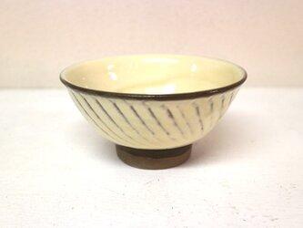 小鹿田焼(坂本拓磨) 4寸飯碗(刷毛目・白)の画像