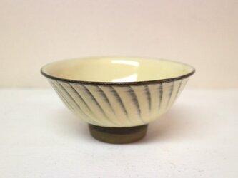 小鹿田焼(坂本拓磨) 4.5寸飯碗(刷毛目・白)の画像
