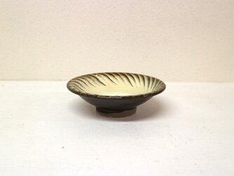 小鹿田焼(坂本拓磨) 4寸深皿(刷毛目・白)の画像