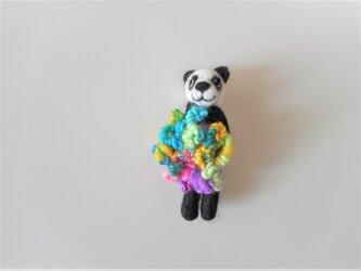 パンダのブローチの画像