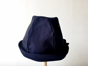 LINEN ROPE HELMA HAT | NAVY【M】の画像
