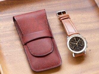 腕時計ケース 携帯用 カラーオーダーの画像