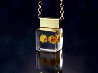 ミモザのプチネックレス 14kgf(ミモザ, レジン, 送料無料)の画像