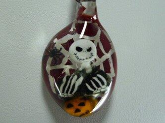 ジャック、ハロウィンNO.3(ガラス、赤、蜘蛛、巣)の画像