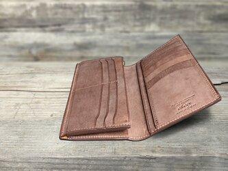 男の本革Slim長財布 --- 希少国産牛革ロロマ [ブラウン]の画像