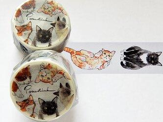 猫のマスキングテープの画像