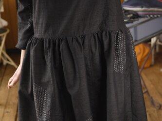 正絹結城紬リメイクワンピースの画像