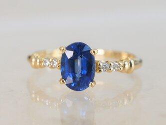 カイヤナイト×ダイヤモンドリング(No.1035) の画像