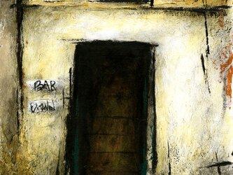 風景画 パリ 油絵「裏通りのBAR・Ⅱ~BROWN~」の画像