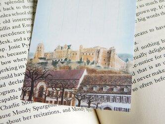 水彩画一筆箋012「 丘の上の古城」25枚の画像