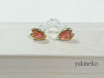 花びらイヤリング 桜の画像