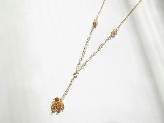 ブロンズルチルクォーツのネックレスの画像
