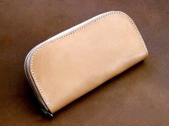 本革サドルレザーのラウンドファスナー長財布【受注製作】の画像