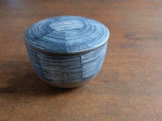 インディゴ 陶おひつ 1合の画像