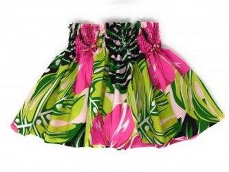 シングルパウスカート ケイキ(ベビー用)丈30cm ハイビスカス柄 ピンク[puk-175s30PB]の画像