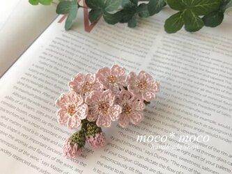 *受注製作*桜のブローチの画像