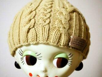オーガニックウールのニット帽【カモミール】の画像