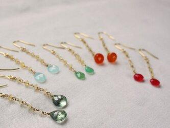 Ethiopian Opal Hooked earrings エチオピアンオパールゆらゆらピアス/イヤリングの画像