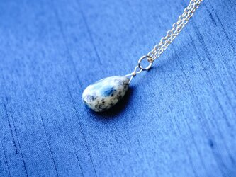 14kgf K2ブルー(K2アズライト)ペアシェイブ ネックレス ペンダント 天然石の画像