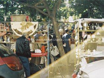Buenos Aires / Argentina 「日曜日の賑やかな蚤の市」 ポストカード2枚セットの画像