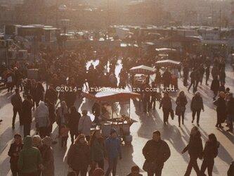 Istanbul / Turkey 「影が伸びる夕暮れの広場」 ポストカード2枚セットの画像