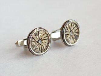 車輪なボタン カフリンクスの画像