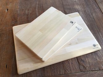 カビに強い 青森ヒバのまな板S 30cm 寄せ木の画像