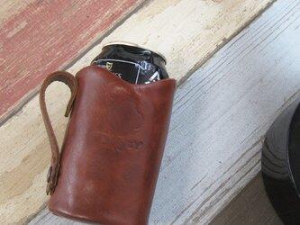 ビールキーパー<BROWN> ☆ラッピング無料☆保冷機能付き 缶ビールホルダーの画像