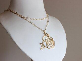 hacco-薔薇ネックレスの画像