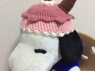 【受注製作】アイスクリーム帽子 ベビー用の画像