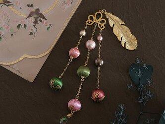 春のイロドリ帯飾り《桜》【送料無料】の画像