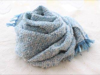 まわたシルクの手織り <瑠璃と真綿>の画像